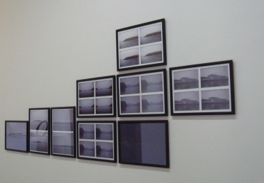 Steller's sea cow observations, series of 9 inkjets prints with annotations 65 x 165 cm, 2012.