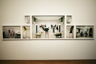 The Last Judgment, inkjet prints on paper and wooden frame, 106 × 408 cm, 2008.
